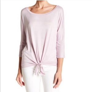 Michael Stars Tie Front Dolman Sleeves Top Shirt